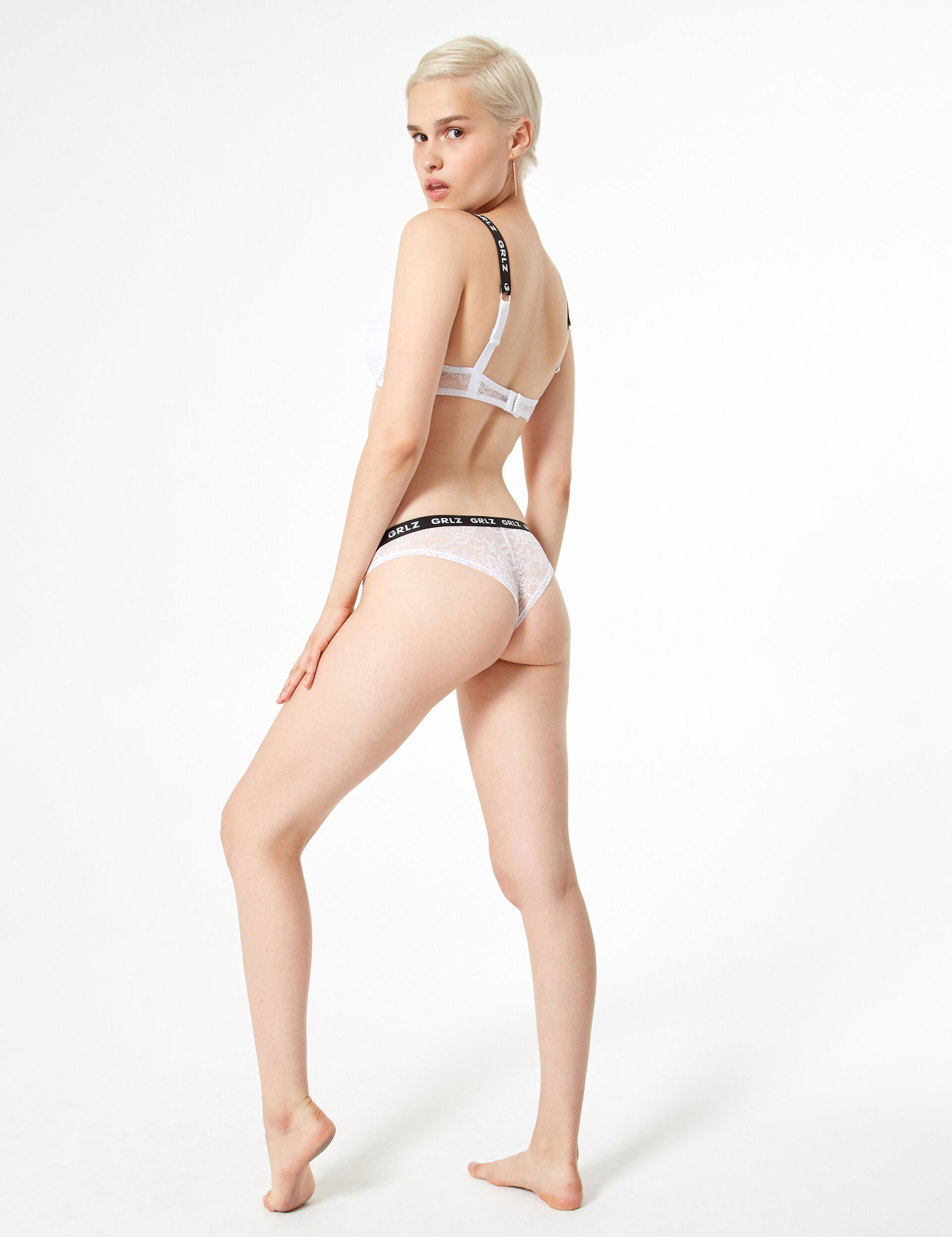 Grlz lace tanga briefs