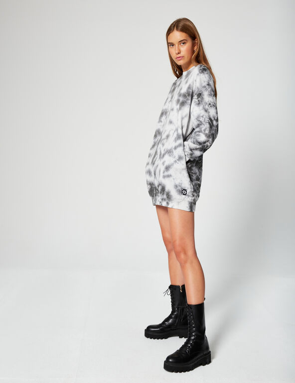 Robe sweat tie and dye