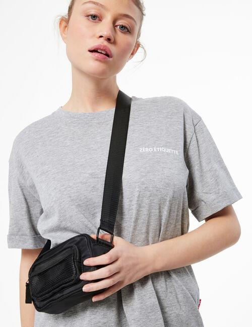 Satin crossbody bag