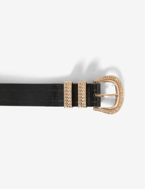 Belt with double loop