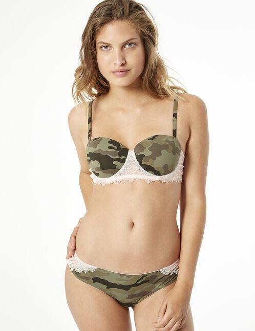 Dual material bra