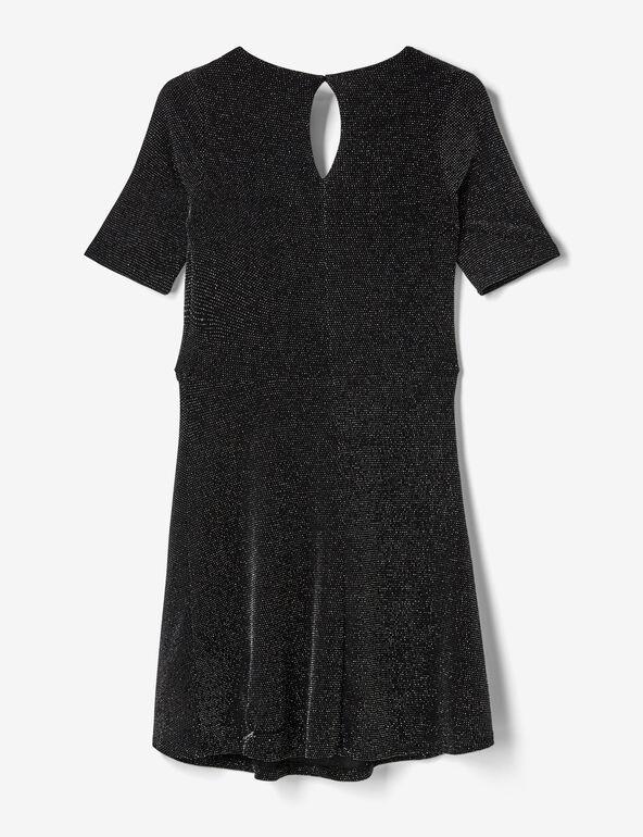 robe cache-coeur avec lurex noire