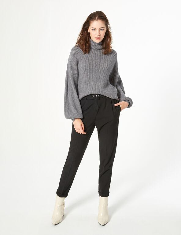 Puff-sleeve jumper