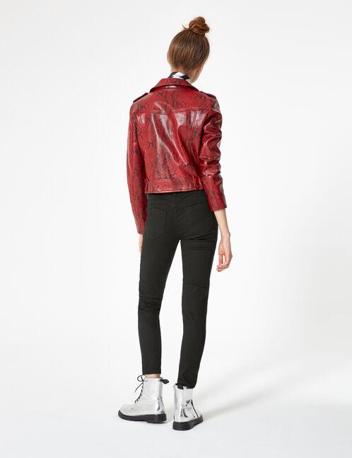 Black high-waisted skinny trousers