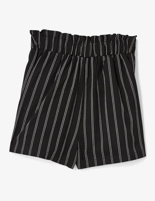 short rayé noir et blanc
