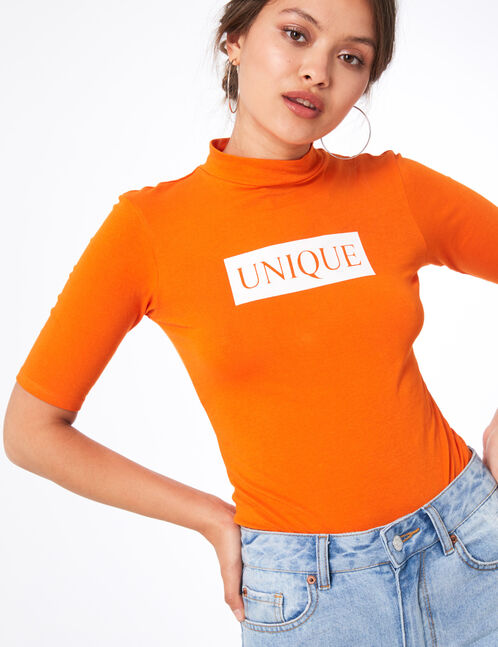 "Orange ""unique"" bodysuit"