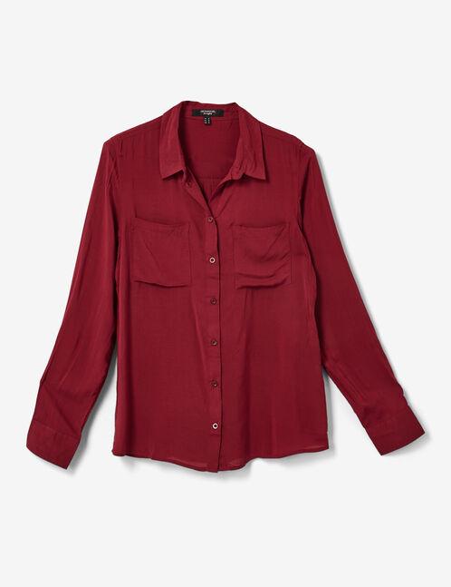 chemise basic bordeaux