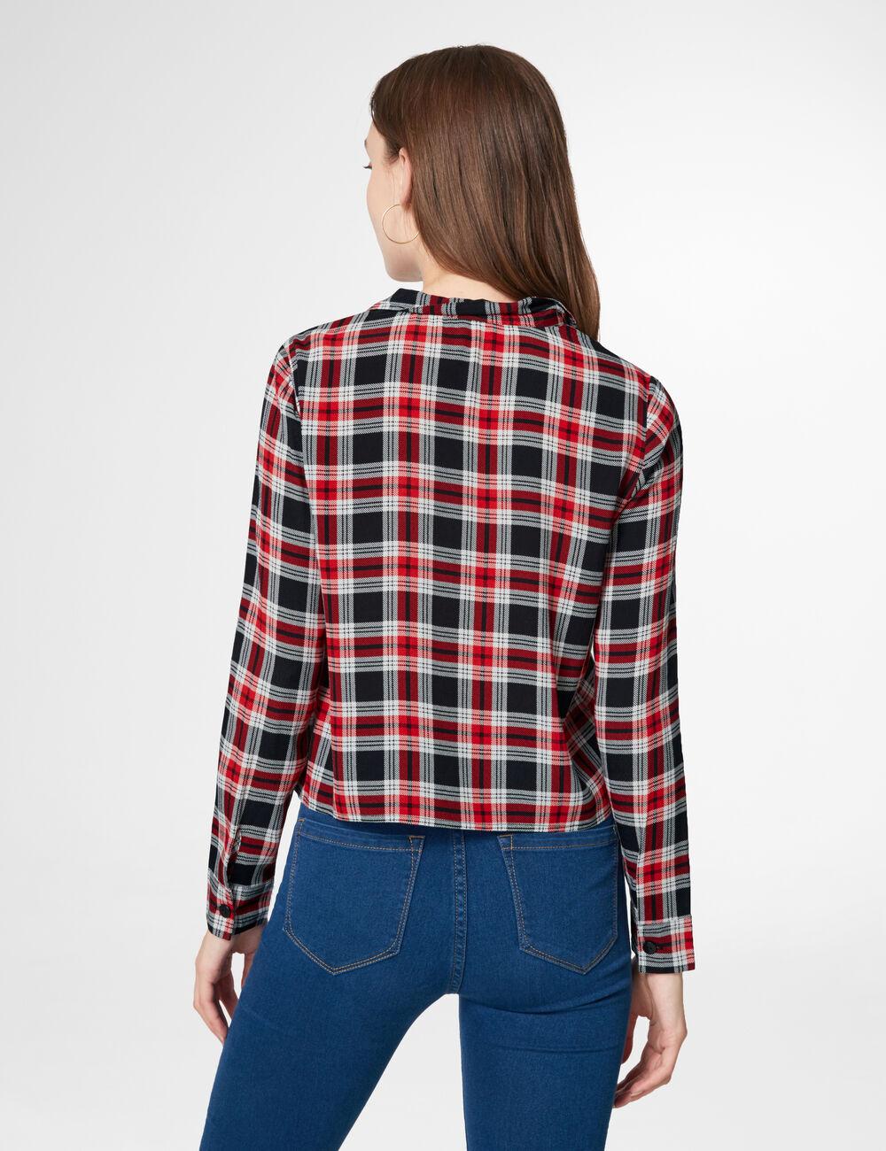 Chemise à carreaux rouge et noir femme • Jennyfer b21b4d3c2d6b