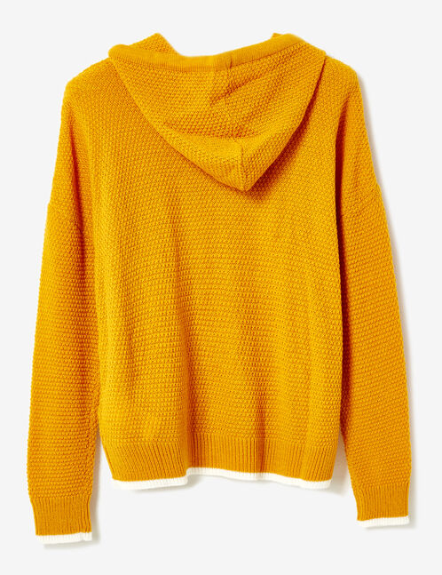"""Ochre and white """"W London"""" hoodie"""