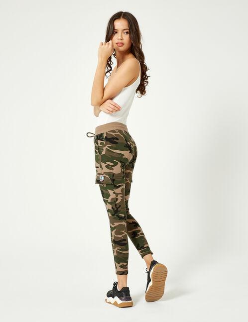 jogging coupe battle camouflage kaki