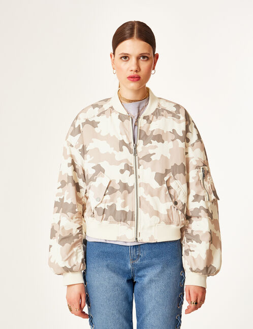 bomber camouflage beige