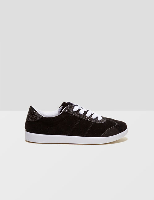 Black sparkly trainers
