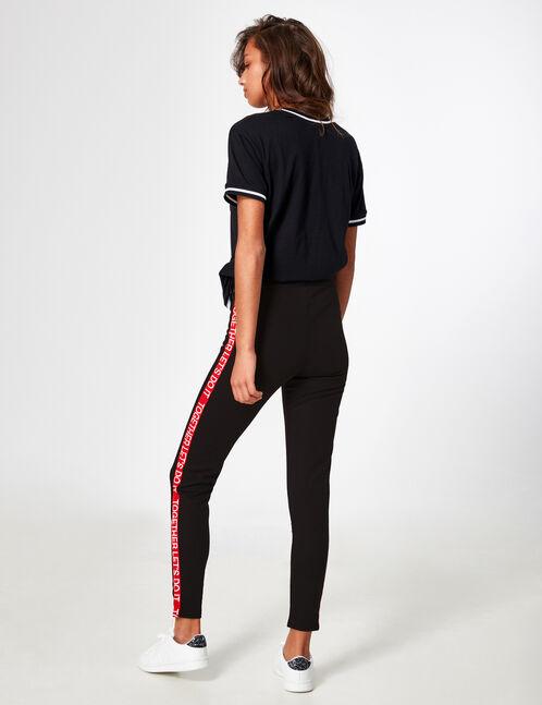 legging avec message noir