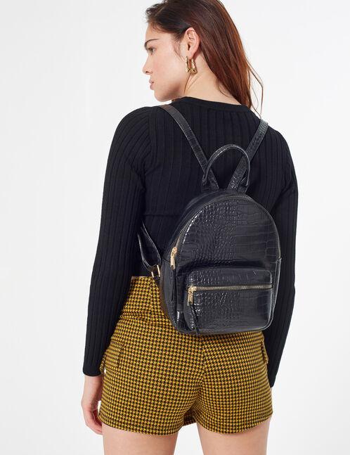 faux snakeskin backpack