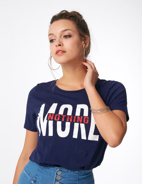"Navy blue ""nothing more"" T-shirt"