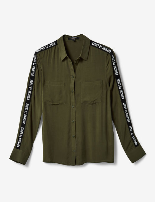 "Khaki ""nothing to lose"" shirt"