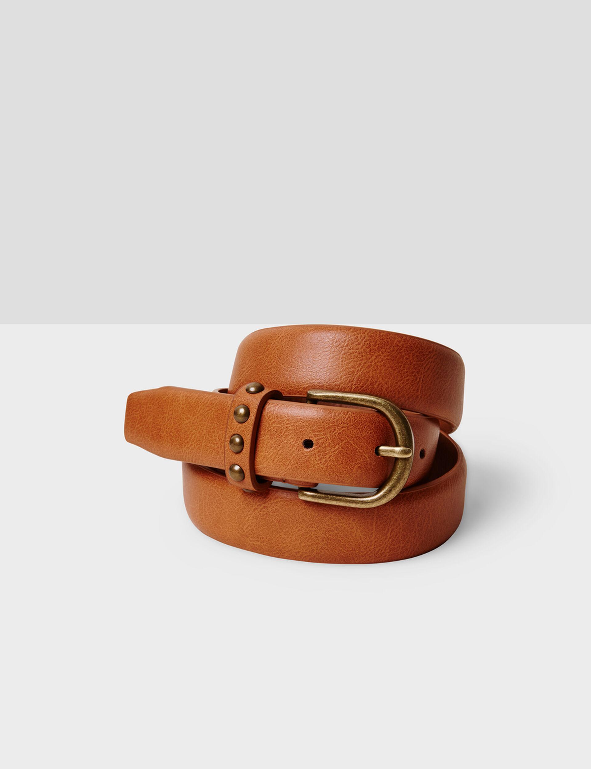 ceinture avec clous camel