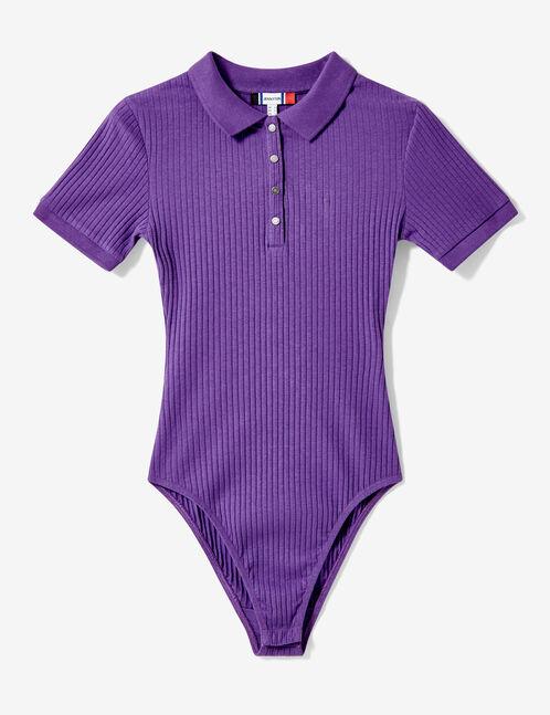 Purple sporty bodysuit