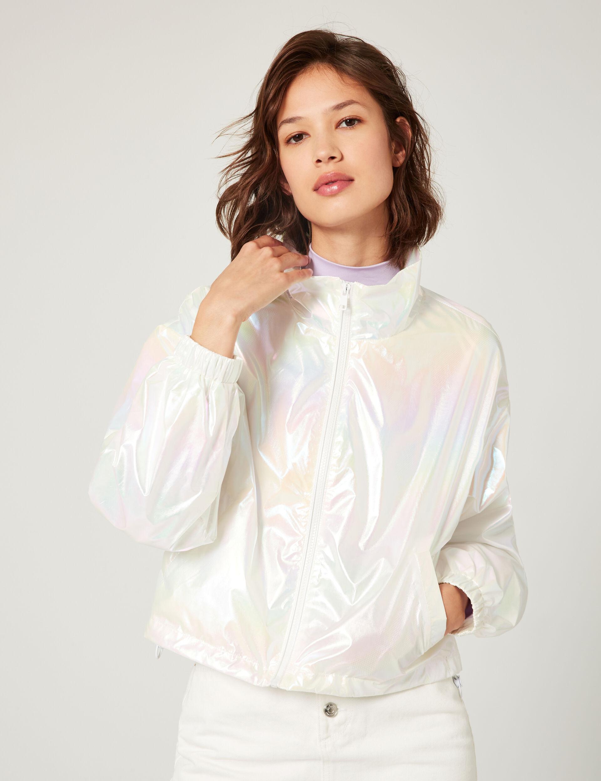 Iridescent waterproof jacket