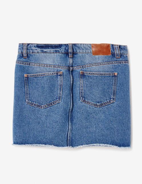 jupe en jean medium blue