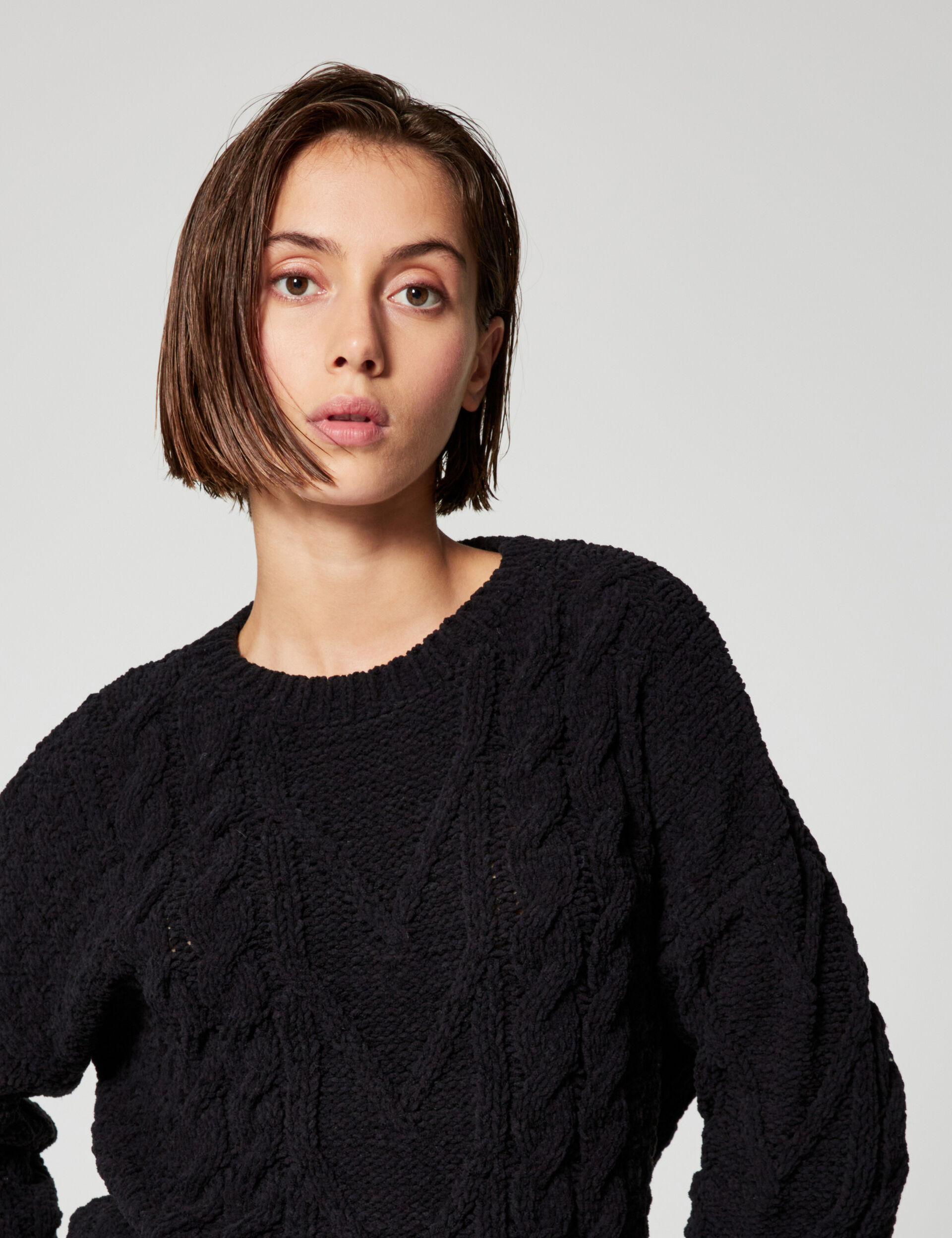 Chenille twist jumper