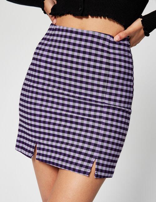 Checked miniskirt