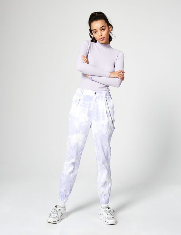 Pantalon cargo tie and dye