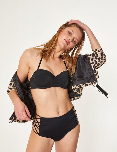 Black bikini set with lacing detail