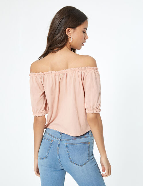 Pale pink buttoned top