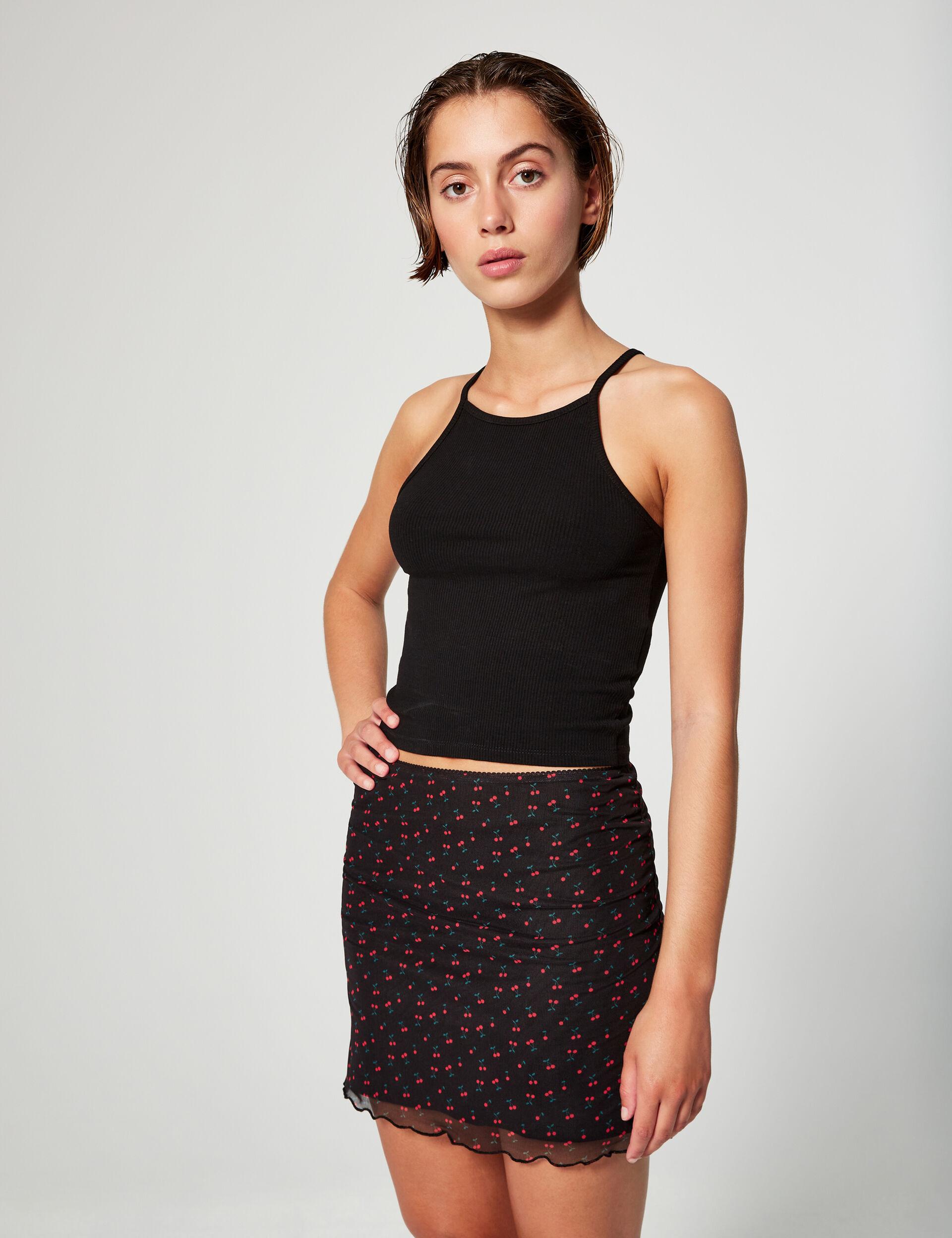 Cherry mini skirt