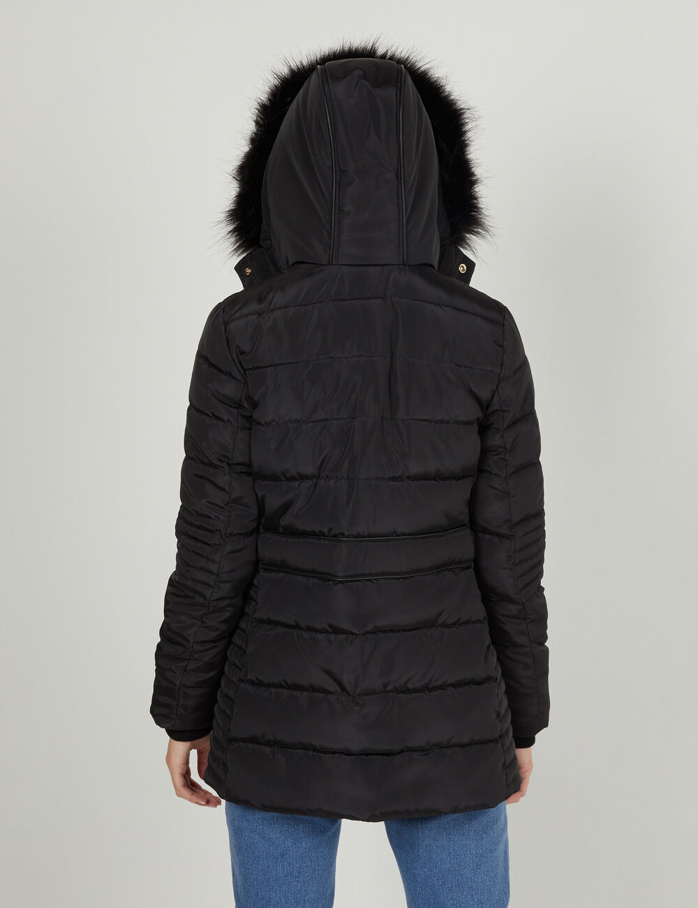 74faaba52e288 Doudoune longue noire femme • Jennyfer