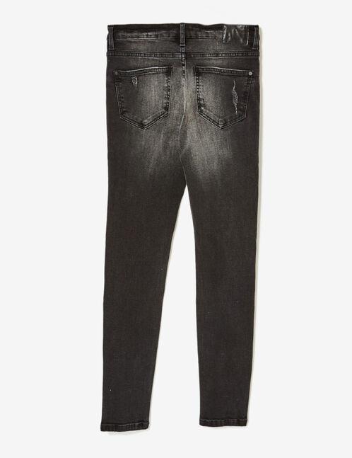 Black low-rise skinny jeans