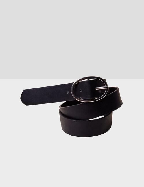 ceinture avec boucle ovale noire