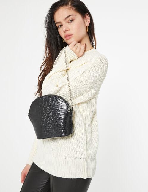 faux snakeskin bag