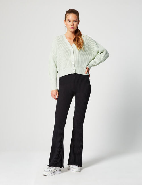 Pantalon flare côtelé