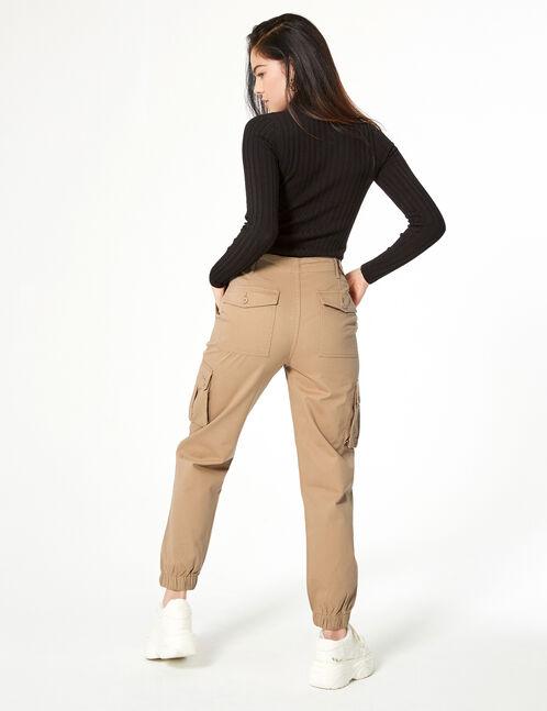 pantalon esprit cargo beige