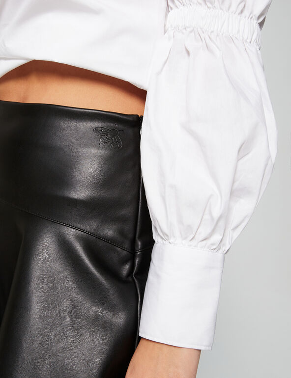 Scorpion faux leather skirt
