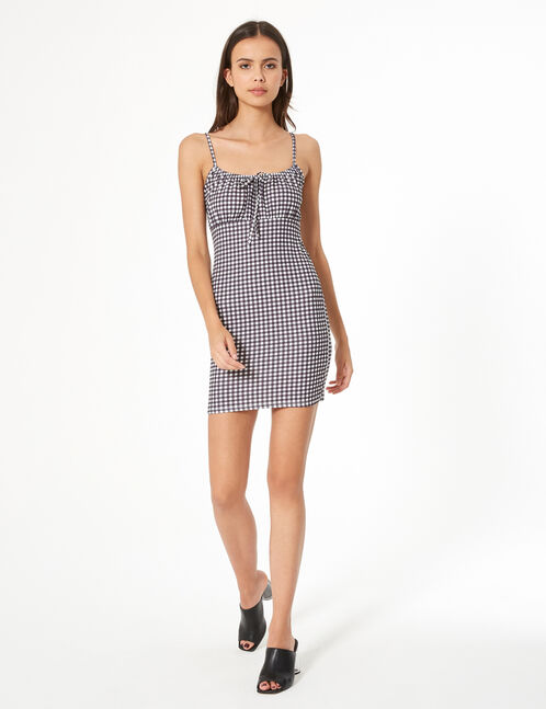 fitted gingham dress