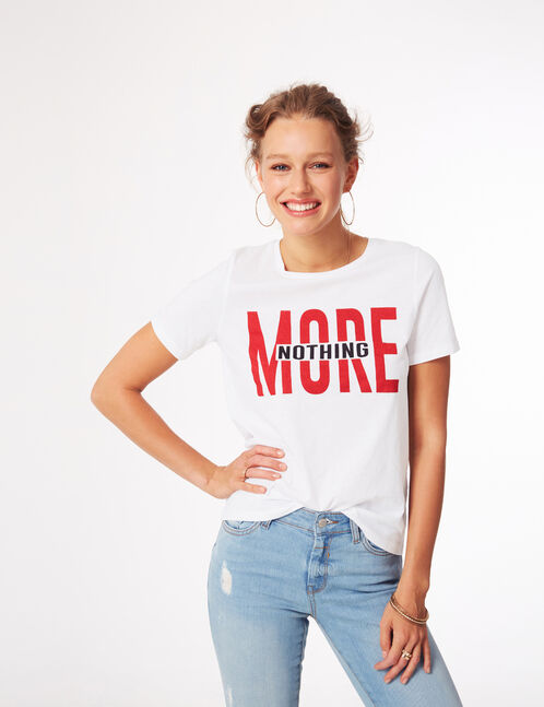 "White ""nothing more"" T-shirt"