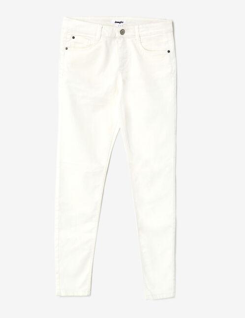 pantalon skinny push-up écru