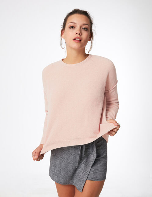 Light pink chenille jumper