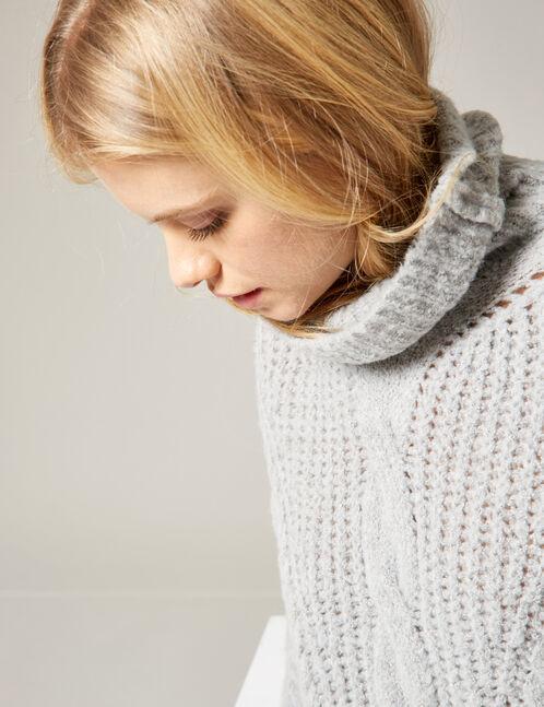 Soft grey marl oversized jumper