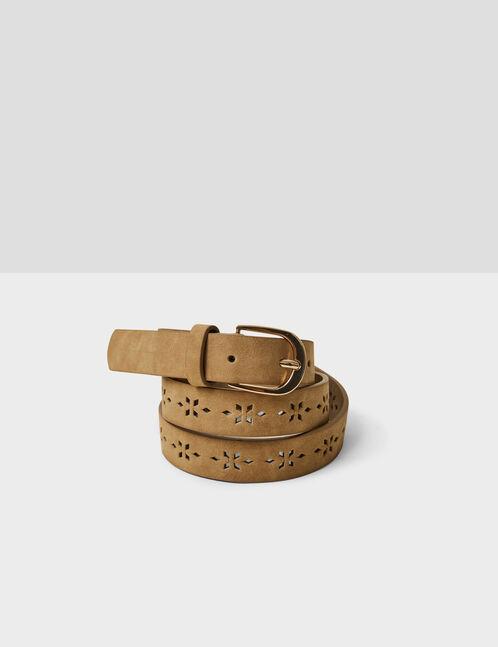 ceinture perforée camel