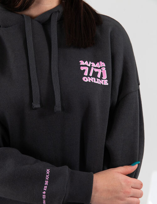 Oversized the phone planning hoodie