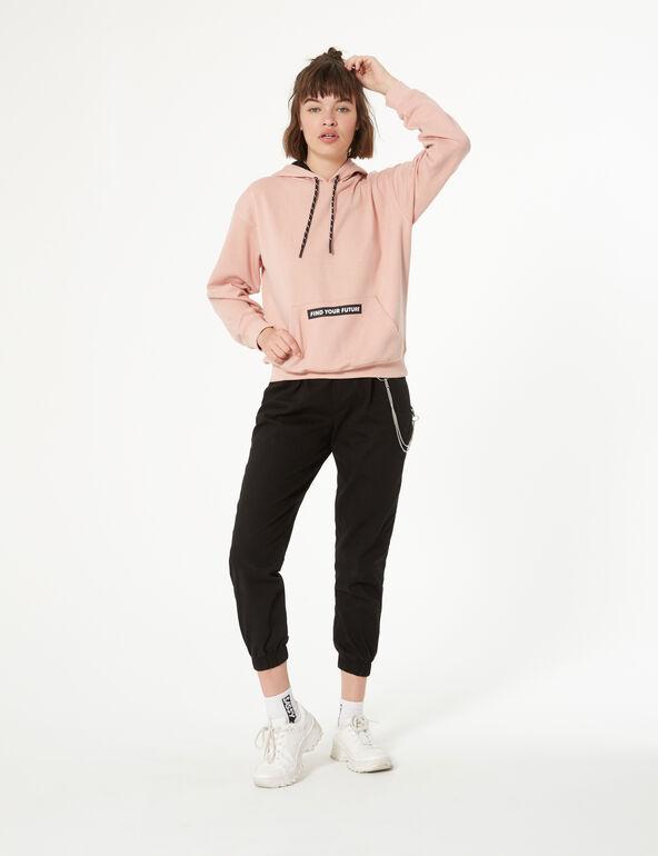 Hooded print sweatshirt
