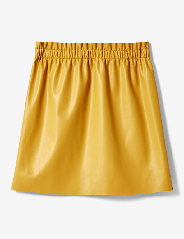 Ochre ruched skirt