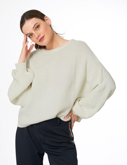 Cream textured jumper