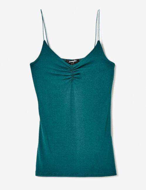 Emerald spaghetti strap camisole