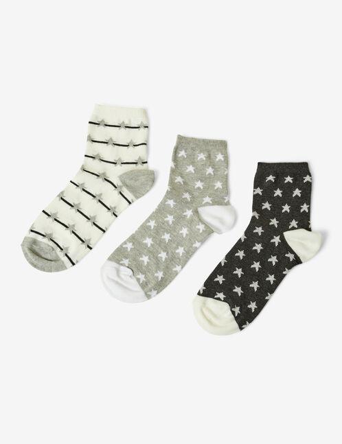 chaussette motif étoiles