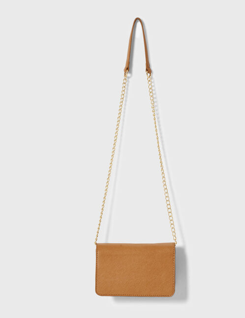 Small camel crossbody bag